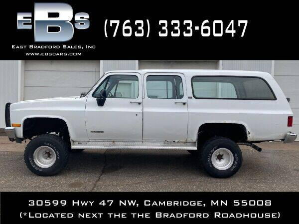 1991 Chevrolet Suburban for sale at East Bradford Sales, Inc in Cambridge MN