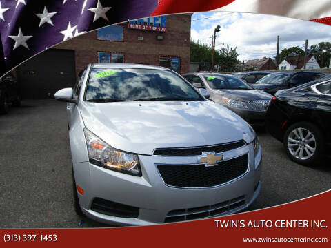 2013 Chevrolet Cruze for sale at Twin's Auto Center Inc. in Detroit MI