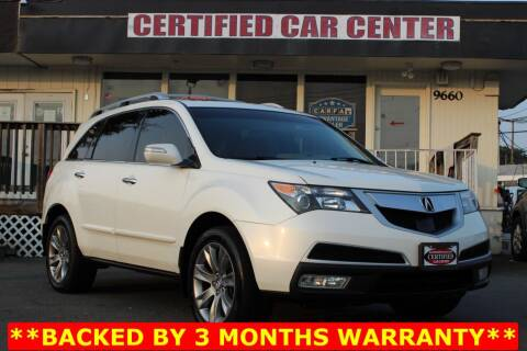 2013 Acura MDX for sale at CERTIFIED CAR CENTER in Fairfax VA