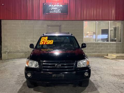 2004 Toyota Highlander for sale at Alpha Motors in Chicago IL