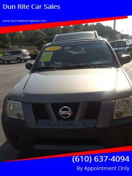 2005 Nissan Xterra for sale at Dun Rite Car Sales in Downingtown PA