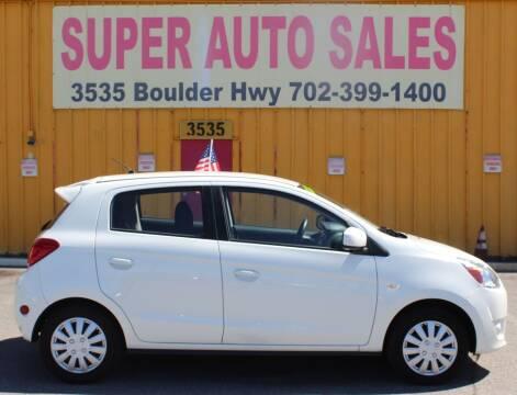 2015 Mitsubishi Mirage for sale at Super Auto Sales in Las Vegas NV