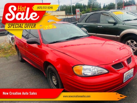 2000 Pontiac Grand Am for sale at New Creation Auto Sales in Everett WA