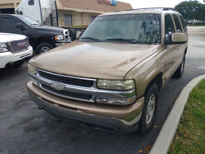 2000 Chevrolet Tahoe for sale at LAND & SEA BROKERS INC in Pompano Beach FL