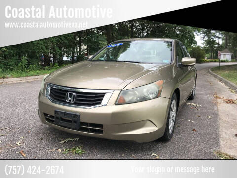 2008 Honda Accord for sale at Coastal Automotive in Virginia Beach VA