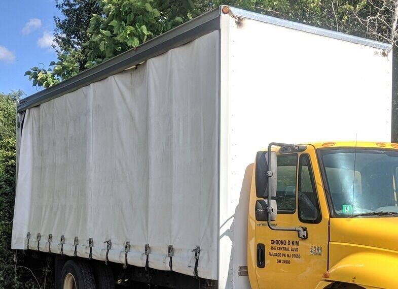 2013 MORGAN 24 FT CURTIAN SIDE BOX BODY ENCLOSED FLATBED for sale at Re-Fleet llc in Towaco NJ