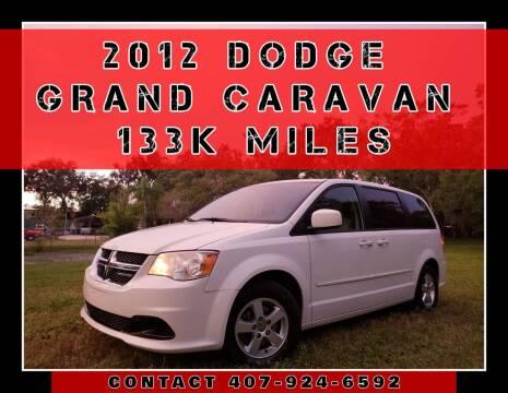 2012 Dodge Grand Caravan for sale at AFFORDABLE ONE LLC in Orlando FL