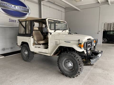 1981 Toyota Land Cruiser for sale at TANQUE VERDE MOTORS in Tucson AZ