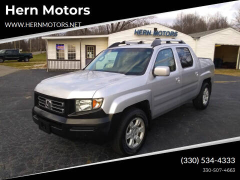 2006 Honda Ridgeline for sale at Hern Motors - 2021 BROOKFIELD RD Lot in Hubbard OH