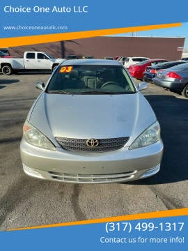 2003 Toyota Camry for sale at Choice One Auto LLC in Beech Grove IN