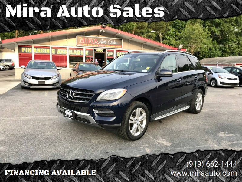 2014 Mercedes-Benz M-Class for sale at Mira Auto Sales in Raleigh NC