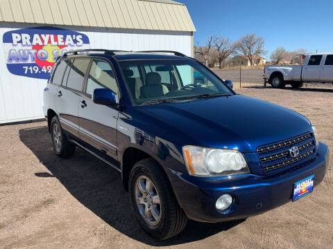 2003 Toyota Highlander for sale at Praylea's Auto Sales in Peyton CO
