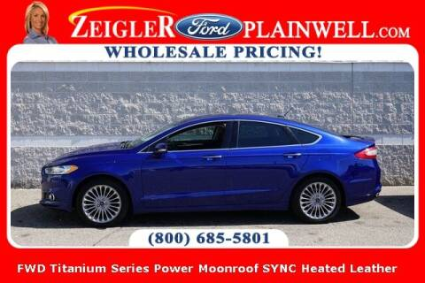 2016 Ford Fusion for sale at Zeigler Ford of Plainwell- Jeff Bishop in Plainwell MI