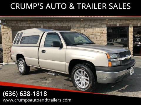2005 Chevrolet Silverado 1500 for sale at CRUMP'S AUTO & TRAILER SALES in Crystal City MO