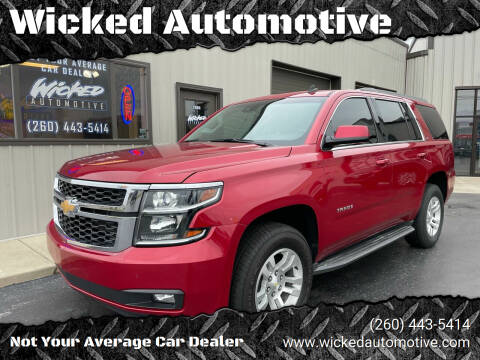 2015 Chevrolet Tahoe for sale at Wicked Automotive in Fort Wayne IN