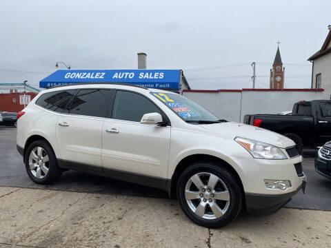 2012 Chevrolet Traverse for sale at Gonzalez Auto Sales in Joliet IL