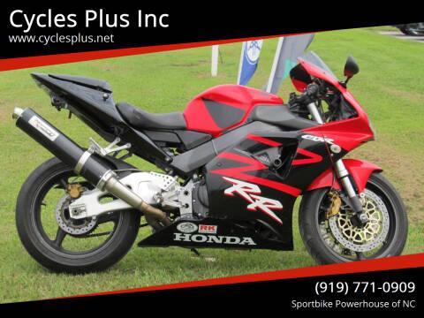 2002 Honda CBR 954RR for sale at Cycles Plus Inc in Garner NC