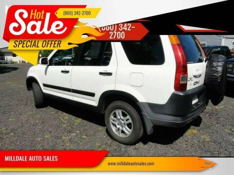 2002 Honda CR-V for sale at MILLDALE AUTO SALES in Portland CT