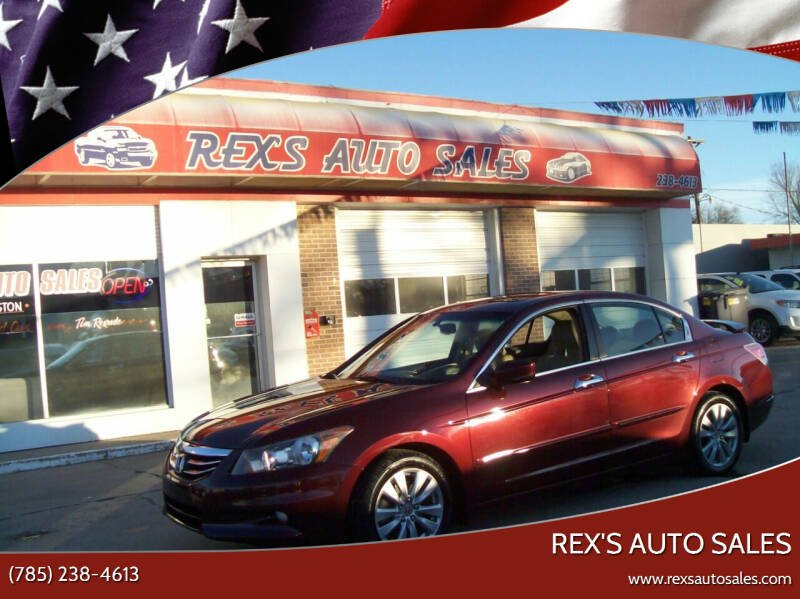 2011 Honda Accord for sale at Rex's Auto Sales in Junction City KS