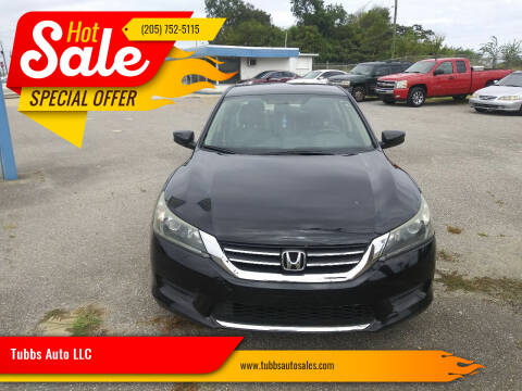 2015 Honda Accord for sale at Tubbs Auto LLC in Tuscaloosa AL