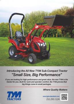 2020 TYM 194 for sale at DirtWorx Equipment - TYM Tractors in Woodland WA