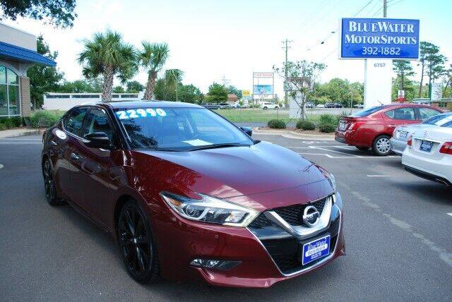 2017 Nissan Maxima for sale at BlueWater MotorSports in Wilmington NC
