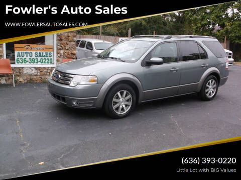 2008 Ford Taurus X for sale at Fowler's Auto Sales in Pacific MO