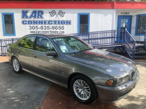 2002 BMW 5 Series for sale at Kar Connection in Miami FL