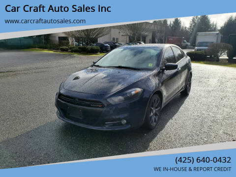 2016 Dodge Dart for sale at Car Craft Auto Sales Inc in Lynnwood WA