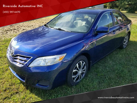 2010 Toyota Camry for sale at Riverside Automotive INC in Aberdeen MD