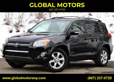 2010 Toyota RAV4 for sale at GLOBAL MOTORS in Binghamton NY