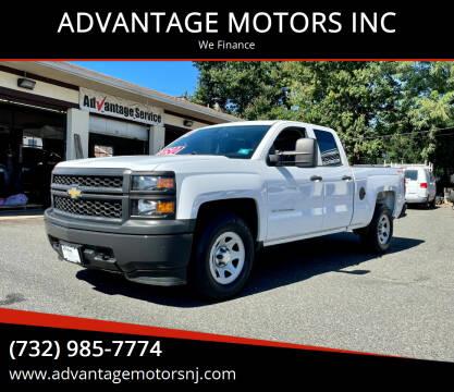 2014 Chevrolet Silverado 1500 for sale at ADVANTAGE MOTORS INC in Edison NJ