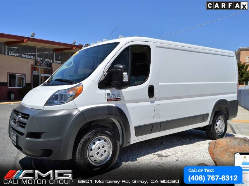 2018 RAM ProMaster Cargo for sale at Cali Motor Group in Gilroy CA