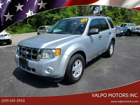 2012 Ford Escape for sale at Valpo Motors Inc. in Valparaiso IN