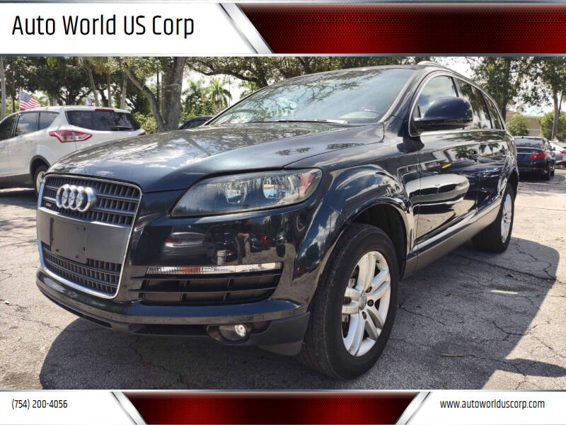 2009 Audi Q7 for sale at Auto World US Corp in Plantation FL
