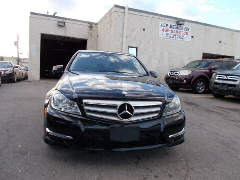 2013 Mercedes-Benz C-Class for sale at ACH AutoHaus in Dallas TX