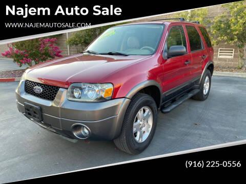 2006 Ford Escape for sale at Najem Auto Sale in Sacramento CA