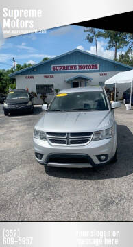 2011 Dodge Journey for sale at Supreme Motors in Tavares FL