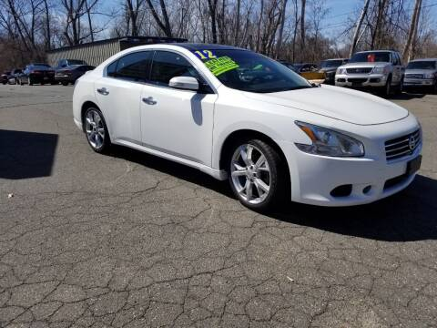 2012 Nissan Maxima for sale at Russo's Auto Exchange LLC in Enfield CT