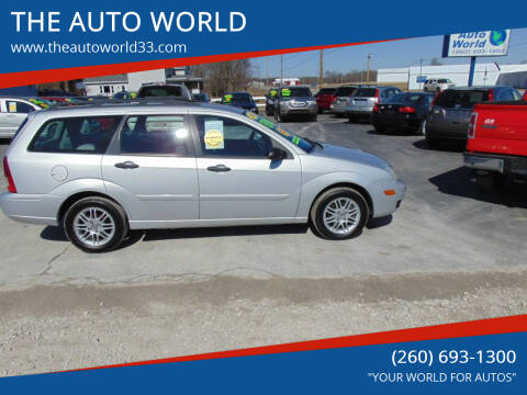 2006 Ford Focus for sale at THE AUTO WORLD in Churubusco IN