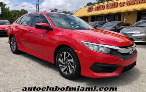 2018 Honda Civic for sale at AUTO CLUB OF MIAMI, INC in Miami FL