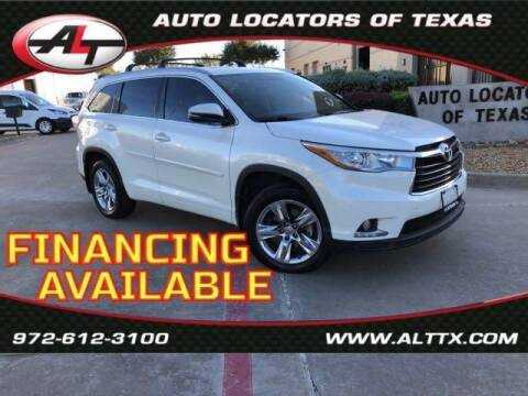 2014 Toyota Highlander for sale at AUTO LOCATORS OF TEXAS in Plano TX