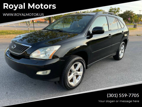 2004 Lexus RX 330 for sale at Royal Motors in Hyattsville MD