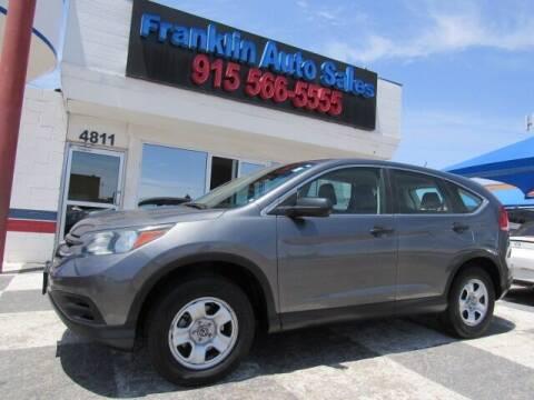 2013 Honda CR-V for sale at Franklin Auto Sales in El Paso TX
