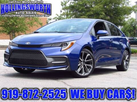 2020 Toyota Corolla for sale at Hollingsworth Auto Sales in Raleigh NC