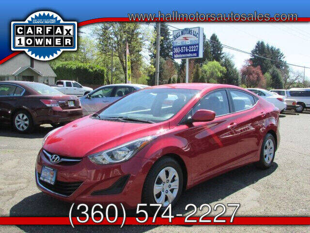 2016 Hyundai Elantra for sale at Hall Motors LLC in Vancouver WA