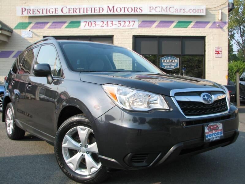 2015 Subaru Forester for sale at Prestige Certified Motors in Falls Church VA