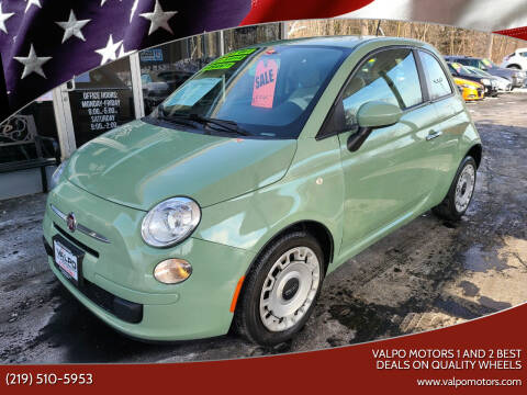 2013 FIAT 500 for sale at Valpo Motors 1 and 2  Best Deals On Quality Wheels in Valparaiso IN