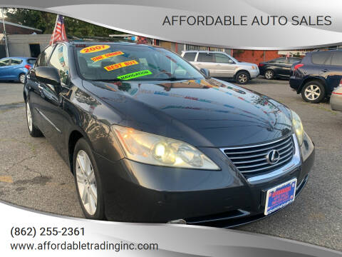 2007 Lexus ES 350 for sale at Affordable Auto Sales in Irvington NJ