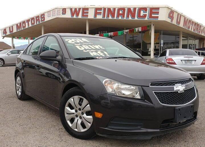 2014 Chevrolet Cruze for sale at 4 U MOTORS in El Paso TX